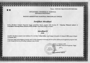 Akreditasi TMI 2006-2011