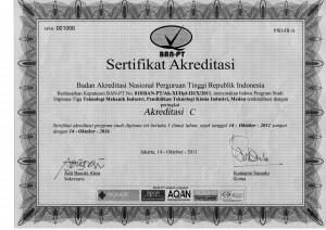 Akreditasi TMI 2011-2016