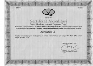 Akreditasi TMI 2015-2020