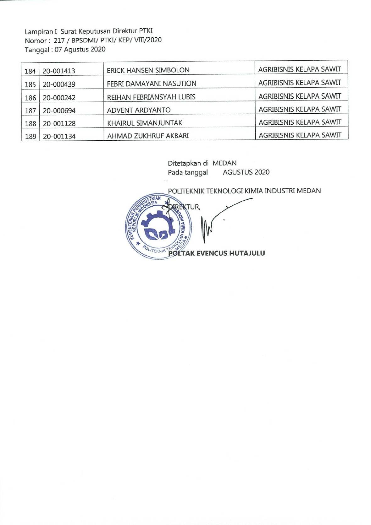 PENGUMUMAN JARVIS MANDIRI 20209