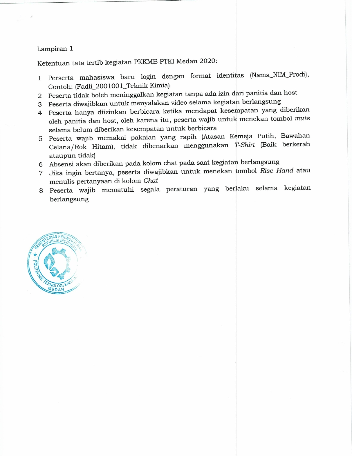 Pengumuman Panduan Orientasi Online (PKKMB) PTKI Medan dan Manual Book Zoom2