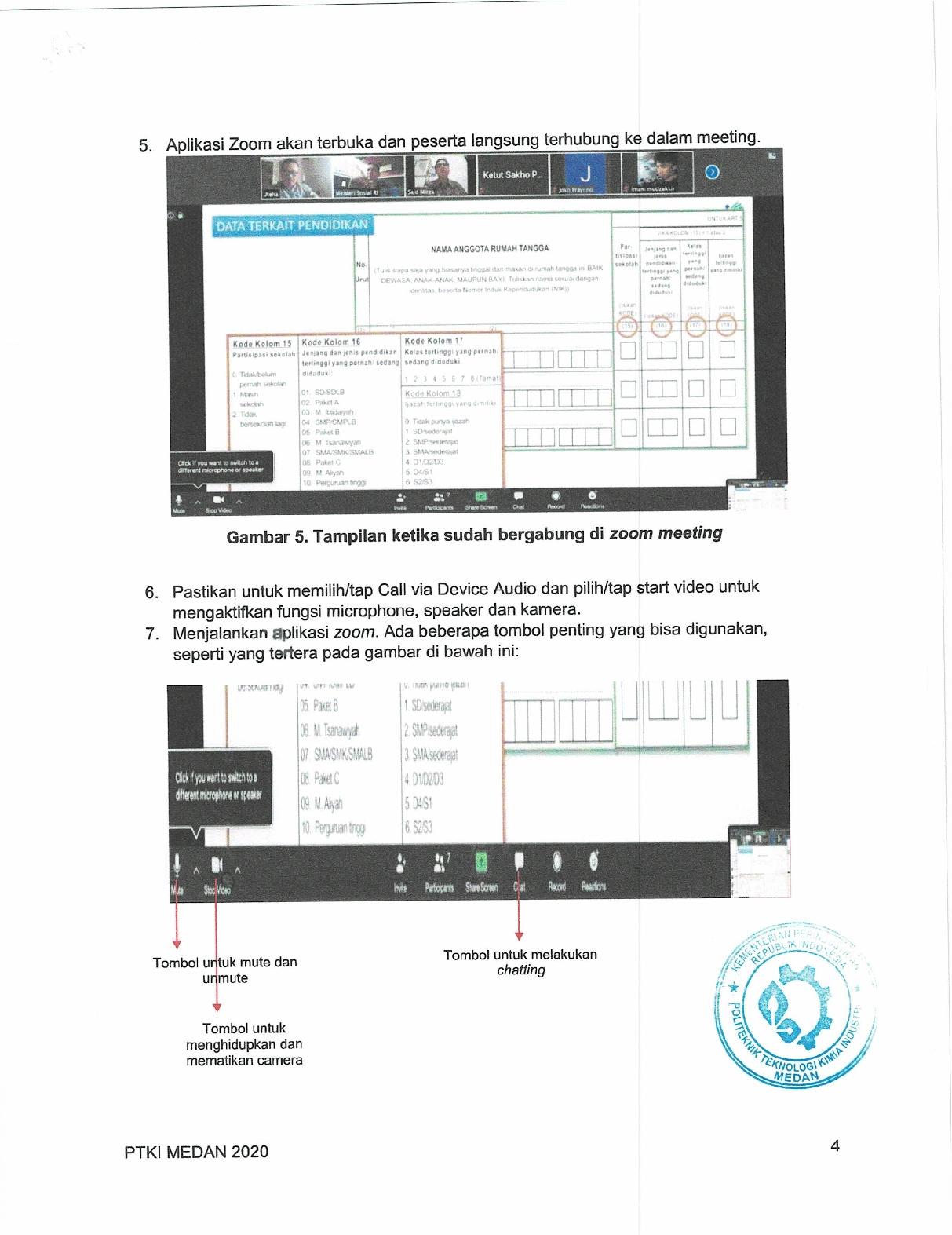 Pengumuman Panduan Orientasi Online (PKKMB) PTKI Medan dan Manual Book Zoom6