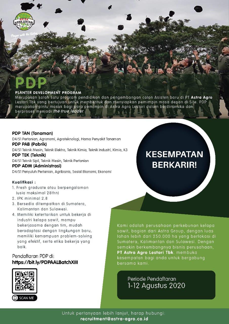 Rekruitmen ASTRA AGRO LESTARI Sampai 12 Agustus 2020